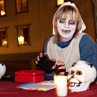 Halloweensminkad Kvinna